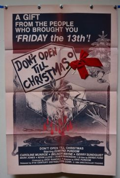 Don't Open Till Christmas Horror Poster - Commercial